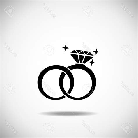 wedding rings vector silhouette caymancode