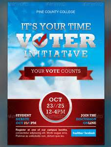 political and voting flyer templates corporate templates