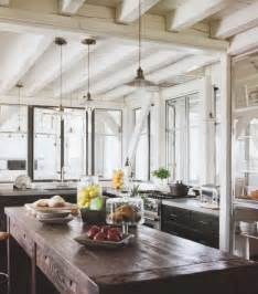 Kitchen Cafe Curtains Modern by Rustic Wood Countertops Cottage Kitchen Elle Decor