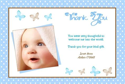 Christening Thank You Cards Template by Personalised Boy Christening Thank You Cards Design 6