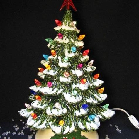 ceramic lighted tabletop christmas tree ceramic trees ceramics and trees on