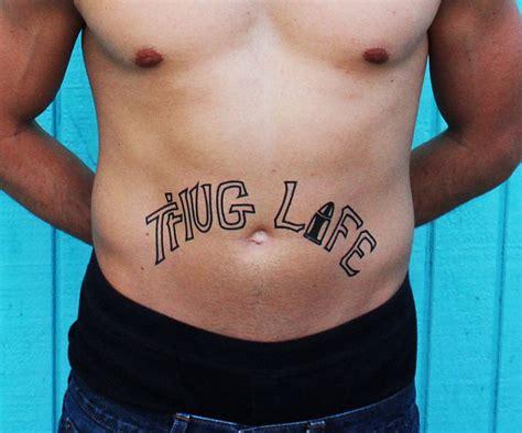tupac thug life tattoo thug temporary tattoos