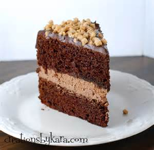 Vegetarian Thanksgiving Main Dish - chocolate mousse layer cake