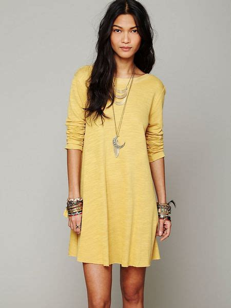 free people long sleeve swing dress casual dresses casual dresses inc shifts wraps more