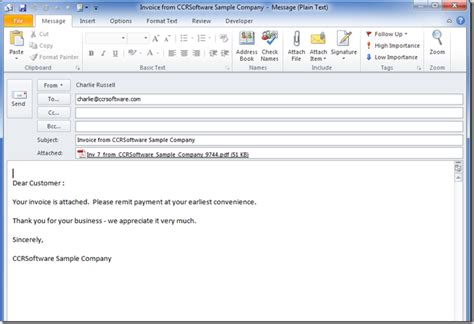 Automatically Email Quickbooks Reports by Quickbooks Email Options Accountex Report