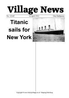Titanic newspaper worksheets we have four titanic newspaper worksheets