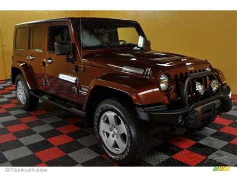 dark red jeep 2007 red rock crystal pearl jeep wrangler unlimited sahara