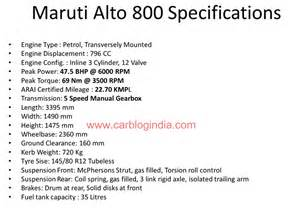 Maruti Suzuki Alto 800 Specifications Features Maruti Suzuki Alto 800 Vxi Features Oncarsin 2016 Car