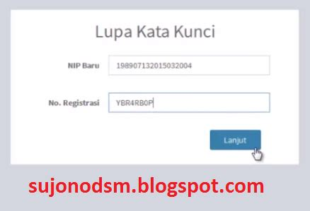 Kunci Password pendopo guru lupa kata kunci saat login e pupns 2015