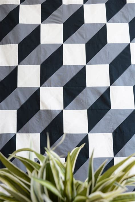 geometric pattern quilt how to make a modern geometric quilt to hang on your wall
