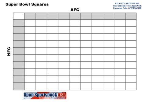 printable superbowl squares template football squares template football squares 10x10 with