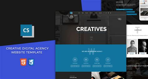 Creative Digital Agency Website Template Free Html5 Templates Digital Agency Website Templates