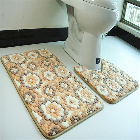 floor mats for bathroom jmjn 2pcs set pvc mesh coral fleece floor mats bathroom ground mat set 45 50cm 50 80cm water