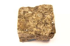 banded metamorphic rock gneiss from karelia stock photo