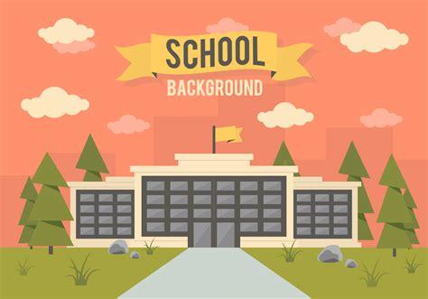 school landscape vector background