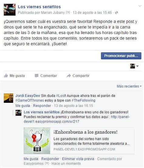 ganadores del sorteo calimax yahoo respuestas c 243 mo hacer sorteos o promociones en el muro de facebook