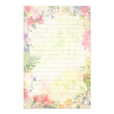 printing and writing paper merchant wholesalers very pretty floral lined stationery paper zazzle com