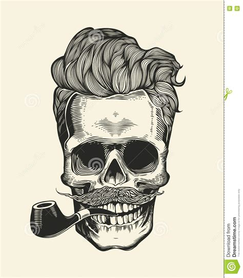 imagenes hipster de calaveras skull hipster skull silhouette with mustache beard and