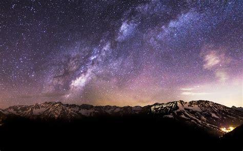 landscape mountain stars wallpapers hd desktop