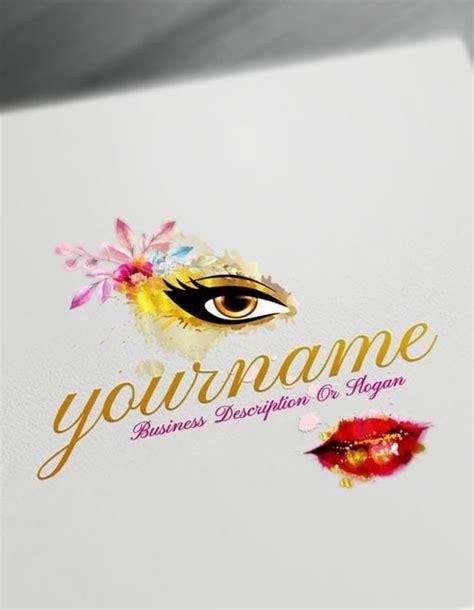 sexy beauty logo   watercolor makeup logo maker