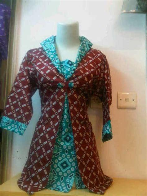 Baju Muslim Batik Unik busana baju batik wanita blus cardigan