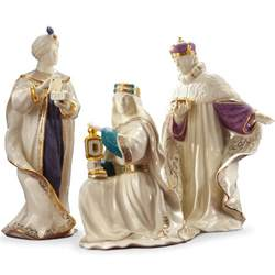 first blessing nativity three kings figurine set