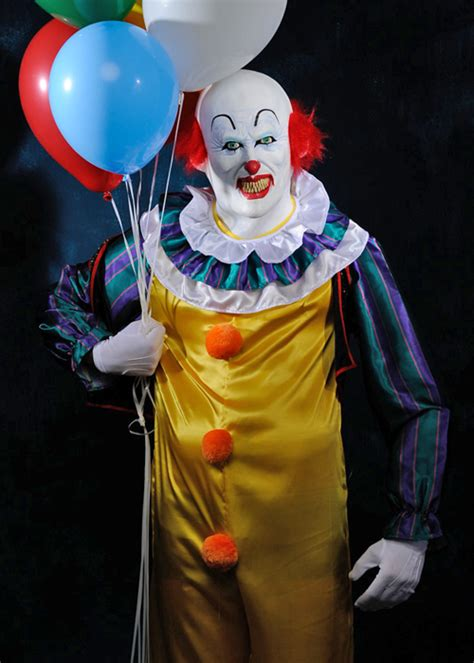 It Pennywise Clown Mask Costume mens deluxe it clown pennywise costume with mask