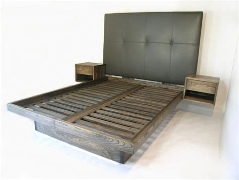 headboard with side tables custom platform bed with drawers and sidetables