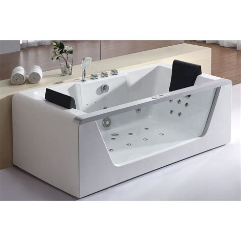 corner rectangular bathtub eago am196 6 ft left drain rectangular corner whirlpool