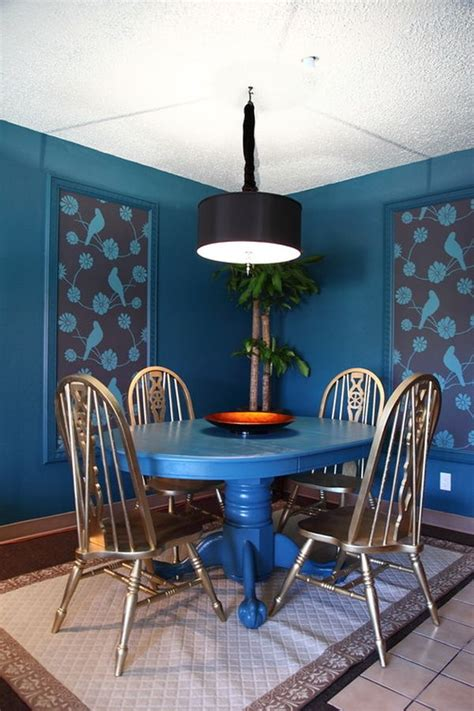 dipped  blueberry monochromatic rooms