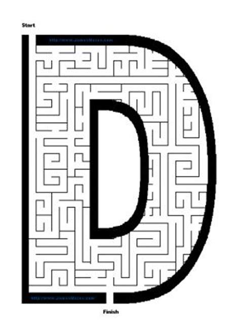 printable maze letter d alphabet mazes letter d maze james mazes