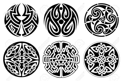 celtic art tattoo designs cool small celtic designs set