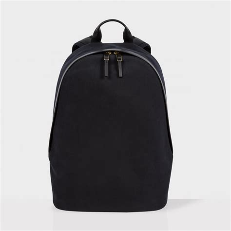 Canvas Backpack Black paul smith s black canvas travel backpack in black for