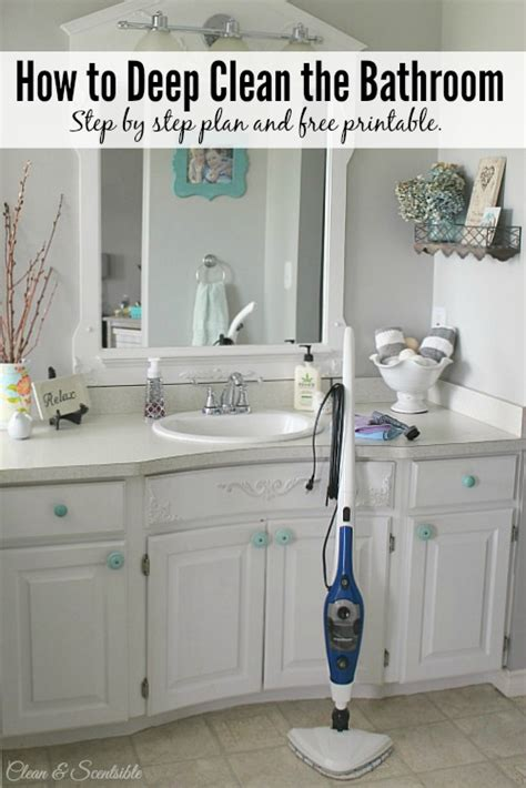 how to deep clean a bathroom with steam homeright