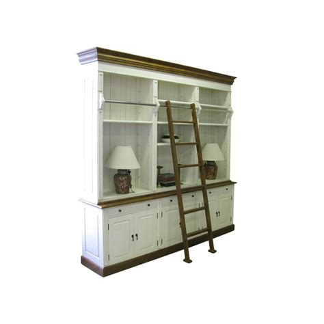 european design provincial three bay bookcase with