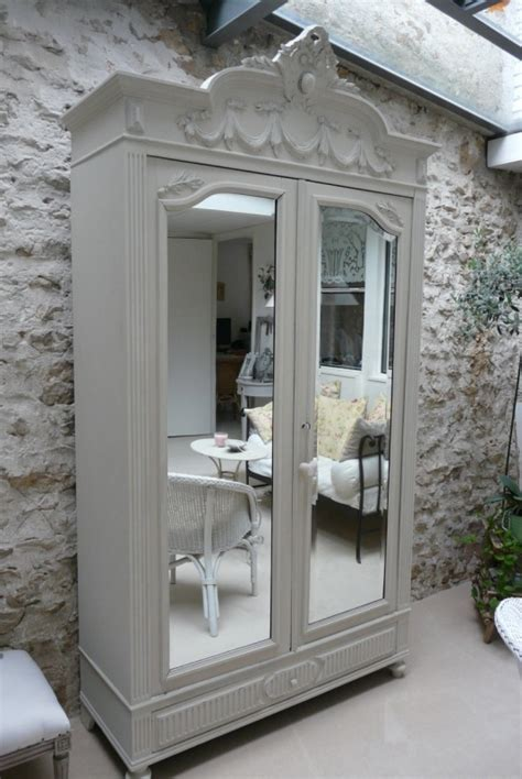 gray armoire grey armoire w mirrored doors diy crafts pinterest