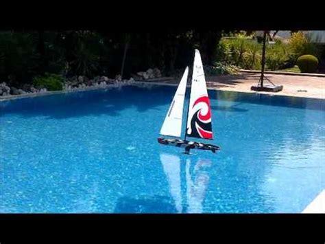 rc sailboat monsoon maiden run youtube