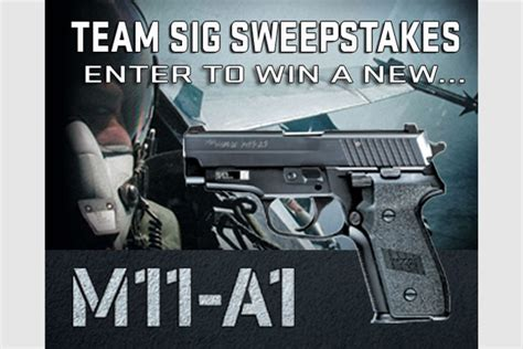 Sig Sauer Sweepstakes - sig sauer m1 a11sweepstakes recoil