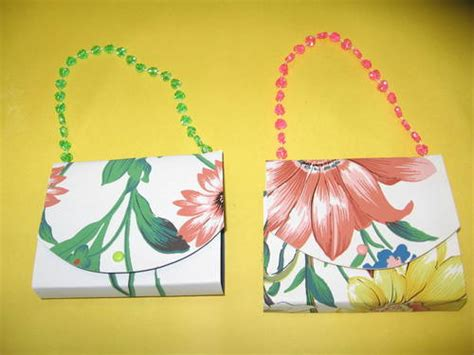 Paper Purse Craft - mothers day purse card paper crafts scrapbooking