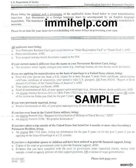 Us Citizenship Document Checklist naturalization document checklist