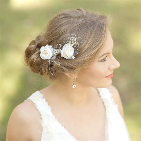 Vintage Rustic Wedding Hairstyles by Burlap Wedding Hair Rustic Wedding Hairpiece Vintage