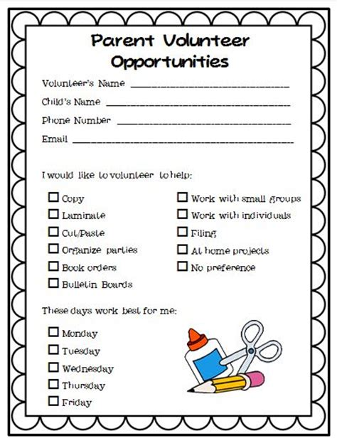 Parent Volunteer Letter For Classroom 25 Best Parent Volunteer Form Ideas On Parent Volunteer Letter Parent Volunteers