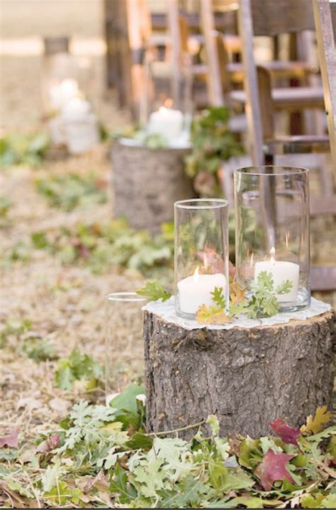Fall Hay Decorations - 50 tree stumps wedding ideas for rustic country weddings deer pearl flowers part 2