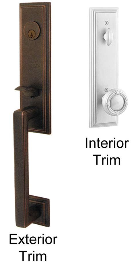 Emtek Exterior Door Hardware Emtek Wilshire Brass Entry Door Handle Shop Entry Set Door Locks Homestead Hardware