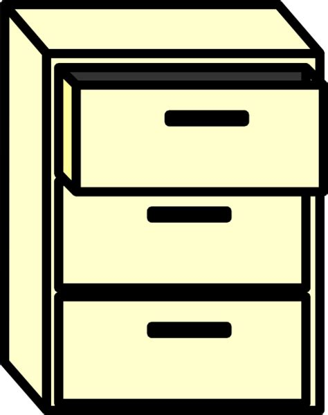Filing Cabinet Clip Art at Clker.com   vector clip art
