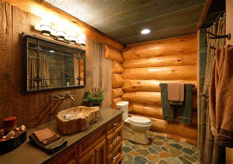 Comfort and nature in a rustic country style bathroom