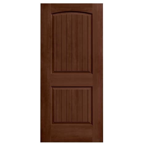 Jeld Wen 36 In X 80 In Stained Milk Chocolate 2 Panel Stain Interior Door
