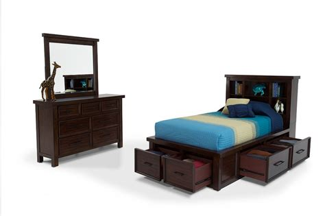 bookcase bedroom set hudson youth 6 piece twin bookcase bedroom set bob s