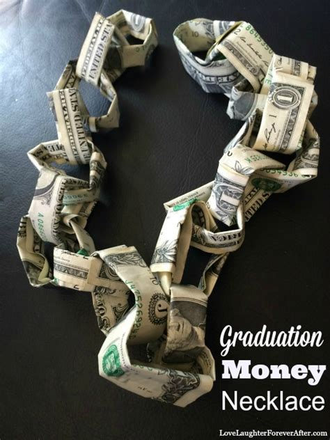 graduation personalized gifts money necklace