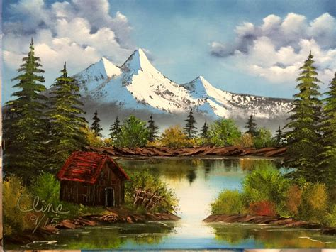 bob ross painting cabin bob ross painting cabin www pixshark images
